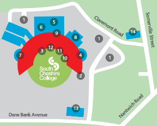 South Cheshire College map